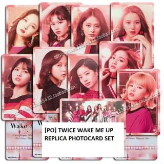 [PO] Twice Wake Me Up Replica Photocard Set
