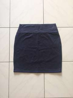Cotton On Mini Pencil Skirt- Navy Blue