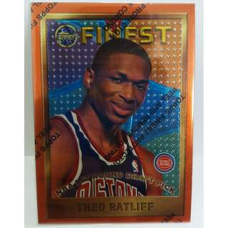 1996 Topps Finest NBA Cards #128 Theo Ratliff