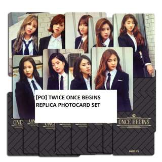 [PO] Twice Once Begins Replica Photocards