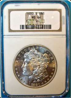 1880 s Morgan dollar MS64