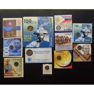 11 Blister Pack set of Commemorative Coins and medal