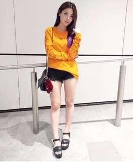 GlamDiv Studio Orange Pullover