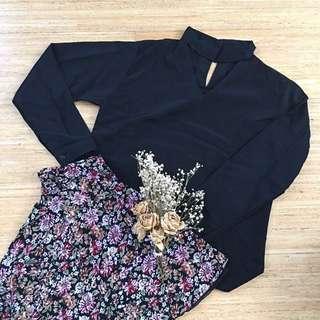 Choker blouse top