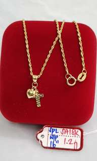 18ksaudi gold necklace