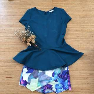 New Look Peplum Blouse warna Tosca
