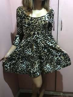 Pre loved leopard print cocktail dress