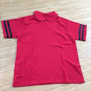 Blouse Bangkok Bkk Collar top warna merah