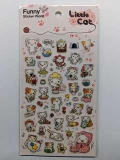 [BN] Cute Korean Cat Sheet Sticker