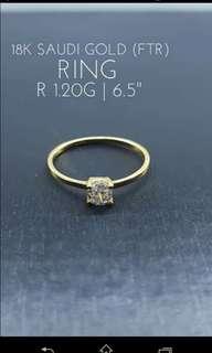 18k Saudi GoLd Engagement Ring