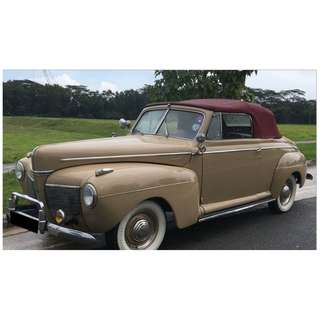 For Sale 1941 Ford Mercury Convertible