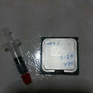 INTEL XEON 2.66GHZ socket 771 PROCESSOR. NO HSF. Intel xeon 2.66GHZ/4M/1333/. FIX PRICE