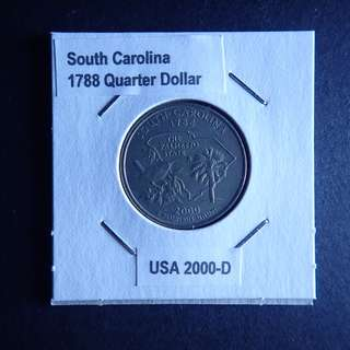 South Carolina Commemorative US Quarter Dollar in holder (as is)