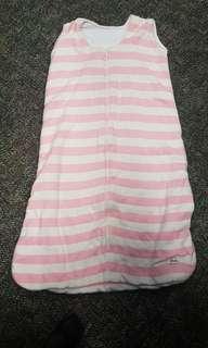 🚚 Grobag / sleeping bag pink and white stripes