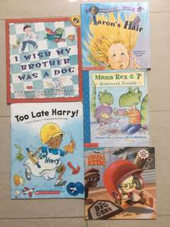 Assorted bundle of 5 Scholastic / Penguin / Disney Pictorial Books