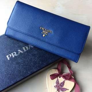 New - Authentic Prada long wallet