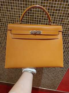 Hermes kelly 32 natural sable