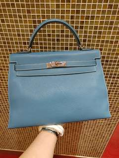 Hermes kelly 32 bluejeans togo