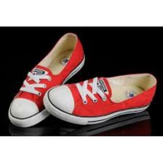 Authentic red CONVERSE Chuck Taylor Ballerina