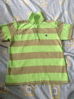 Polo shirt green 3-4yo