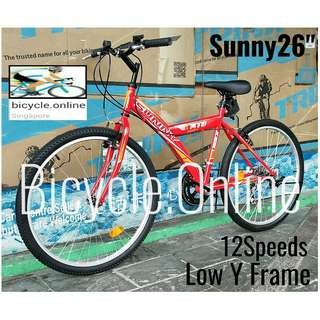 "Sunny 26"" MTB / Mountain Bike ✩ 12 Speeds ✩ Brand new bicycle"
