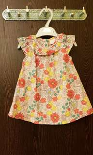 Floral Pastel Pink Baby Girl Dress Set with Shorts 0-3 Months UK