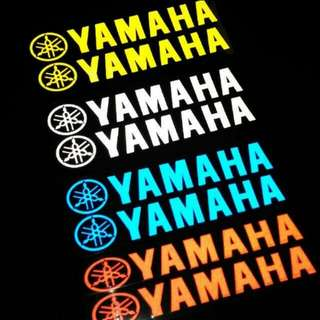 2pc Reflective yamaha