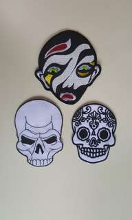 faces design iron on patch