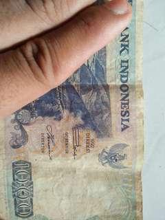 Uang kertas 1000 tahun edisi 1992