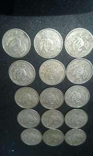 日本鳳凰百円銀幣(共15枚)