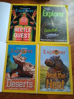 (Set of 4) National Geographic Explorer Kids (P2/P3)