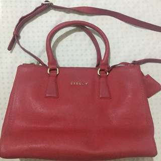 Sisley Red Leather Bag