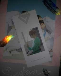 Seventeen 正規一輯 Love Letter Jun書籤 (或換yjh/hjs/jww)