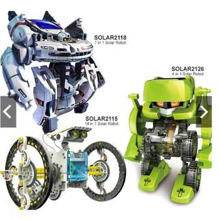 Educational Transformer Solar Power Robot Toys DIY Robot Kit Early Learning Play Toy