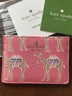 Kate Spade Camel Cardholder