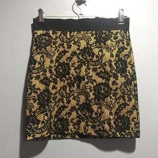Divided H&M Yellow Bondage Skirt