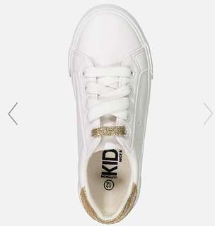 White gold sneakers