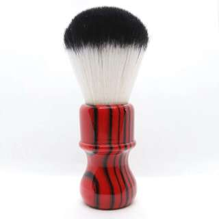 Red Tiger Stripes Reversed Tuxedo Knot Shaving Brush 26mm