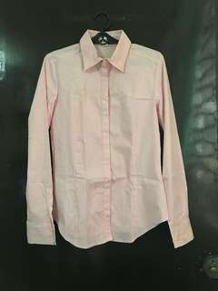 (NEW) Forever21 Pinstripe Pink Button Down