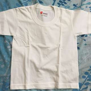 Plain white shirt for 4-5yo (used only once)