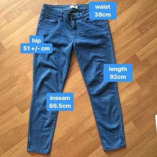 forever 21 skinny blue jeans