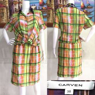 Carven Checked Dress