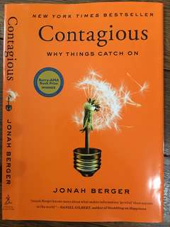 Contagious : Why Things Catch On (Jonah Berger) Hardbound