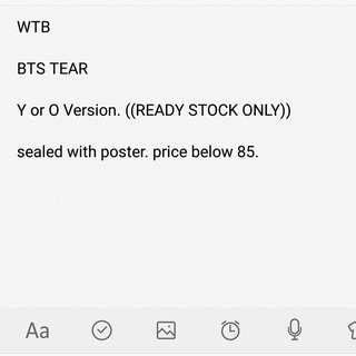 WTB BTS TEAR