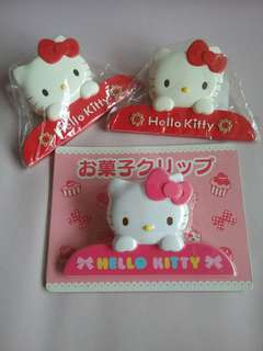 Huge Hello Kitty paper clips x 3