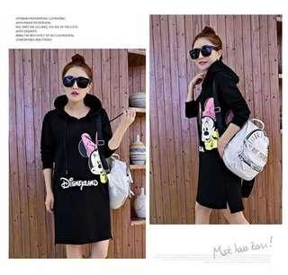 🐋Hoody Minnie Sweater dress