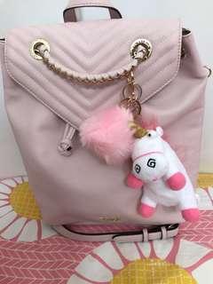 Pink fur charm Keychain