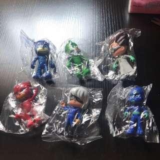 6 pcs set of pj masks figure