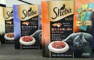 🚚 日本超夯 貓咪零食 SHEBA夾心餡餅 盒裝