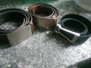 3 old belt authentic .2 vivien belt &1 Burberry belt